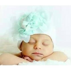 """σκουφακι """"Newborn'' Rose & pearls"""""""