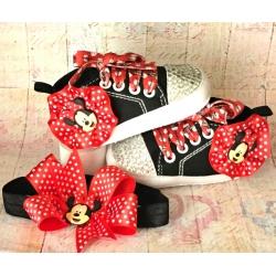 Παπουτσακια ''Minnie''  με κρυσταλλα