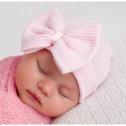 """σκουφακι """"Newborn'' Pink"""