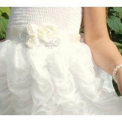 ζωνη ''Cream roses with silver leaves''