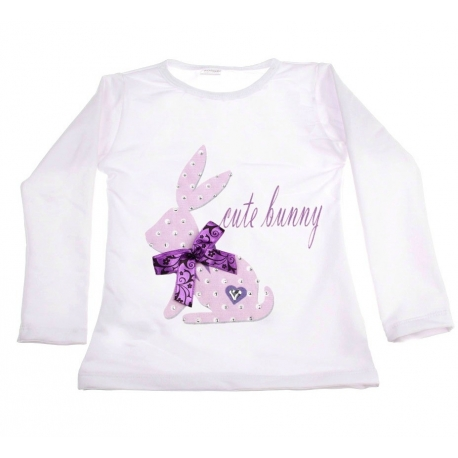 "Μπλουζάκι ""Cute bunny"" with purple"