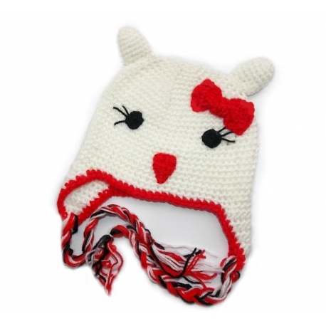 """Σκουφακι """"Hello Kitty"""" red bow"""