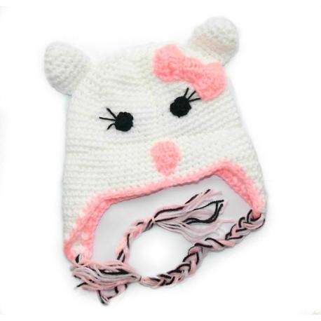 """Σκουφακι """"Hello Kitty"""" pink bow"""