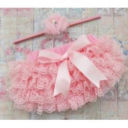 Κάλυμμα πάνας-φουστίτσα ροζ