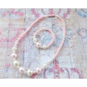 "Σετ ""Pink & white big pearls"""
