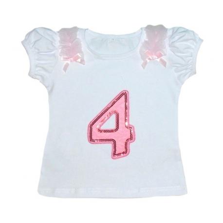 Μπλουζάκι (4) γενέθλια κοντομάνικο