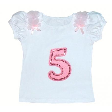 Μπλουζάκι (5) γενέθλια κοντομάνικο