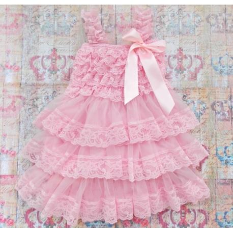 """φορεμα """"Pink Chiffon & Lace"""""""