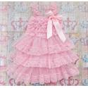Βαπτιστικό φόρεμα για κορίτσι Pink Chiffon and Lace