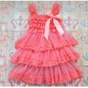 Βαπτιστικό φόρεμα για κορίτσι Coral Chiffon & Lace