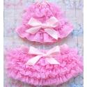 κάλυμμα πάνας Baby pink με σκουφάκι