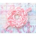 κορδέλα μαλλιών Light pink flower