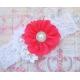 """κορδελα μαλλιων """"Coral red bouquet"""""""