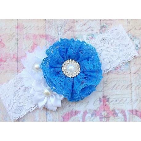 """κορδελα μαλλιων """"Blue lace bouquet"""""""