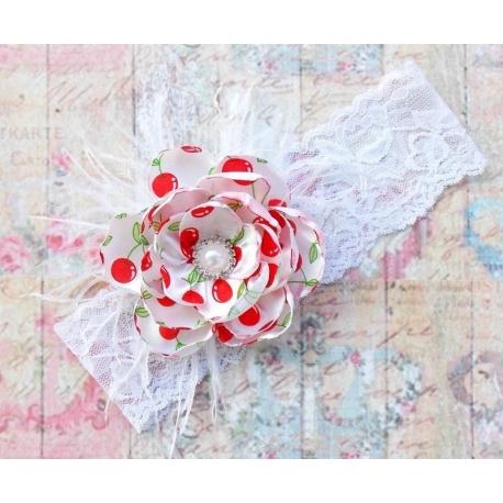 """κορδελα """"Cherry"""" vintage flower"""