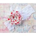 κορδέλα μαλλιών Cherry vintage flower