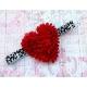 """Κορδελα """"Red heart & leopard"""""""