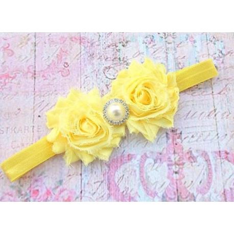 """Κορδελα """"shabby yellow roses"""""""