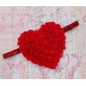 """κορδελα """"Big Heart"""" red"""