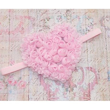 """κορδελα """"Big Heart"""" pink"""