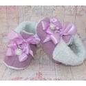 """Μποτακια """"Cute baby"""" lavender"""