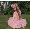 φορεμα ''Dusty pink rosette''