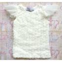 μπλουζάκι για κορίτσι Ivory white rosette