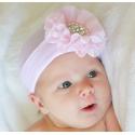 Σκουφάκι για νεογέννητο Chiffon & pearls