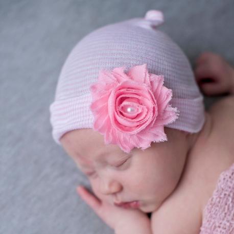 """σκουφακι """"Newborn'' Chabby & pearl"""