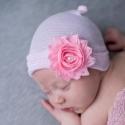 """σκουφακι """"Newborn'' Shabby & pearl"""