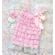 "Romper ''Ivory & Baby pink"" με κορδελα"