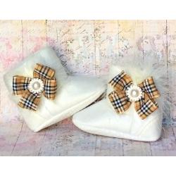 βρεφικά μποτάκια για κορίτσι Burberry Style
