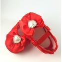 """Παπουτσάκια """"Red rosette and pearl"""""""