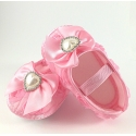 """Παπουτσάκια """"Baby pink rosette and pearl"""""""