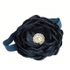 Navy blue rhinestone flower