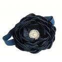 Κορδελα Navy blue rhinestone flower