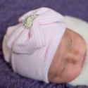 Σκουφάκι για νεογέννητο Crown & pearls