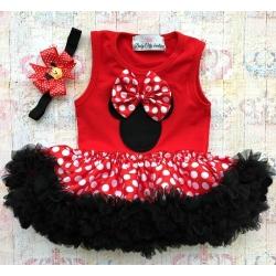 Βρεφικό φόρεμα Tutu Minnie με κορδέλα