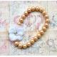 """Παιδικο κολιε """"Vintage pearls"""" white flower"""