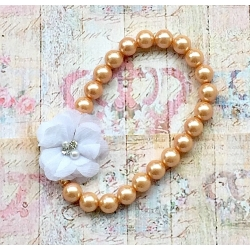 "Παιδικο κολιε ""Vintage pearls"" white flower"