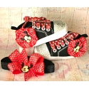 βρεφικά παπουτσάκια για κορίτσι Minnie με κρύσταλλα