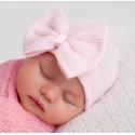 Σκουφάκι για νεογέννητο Pink