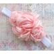 """κορδελα μαλλιων ''light pink bouquet"""""""