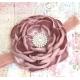 Dusty pink rhinestone flower