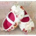 Παπουτσάκια για κορίτσι Flowers ivory