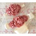 ζωνη ''Cream with Dusty pink ''