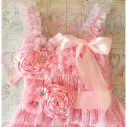 ζωνη ''Pink satin bouquet ''