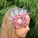 κορδέλα μαλλιών Dusty pink rhinestone flower