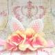 κορδελα μαλλιων με αυτάκια Vintage flowers