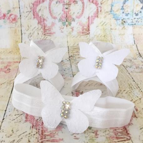 Σανδαλια με κορδελα white lace